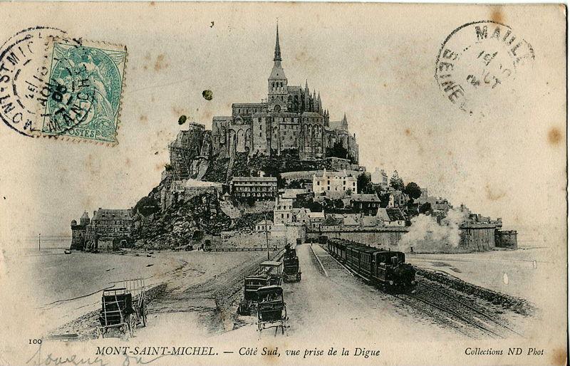 Le Mont St Michel,carte oblitérée en 1905