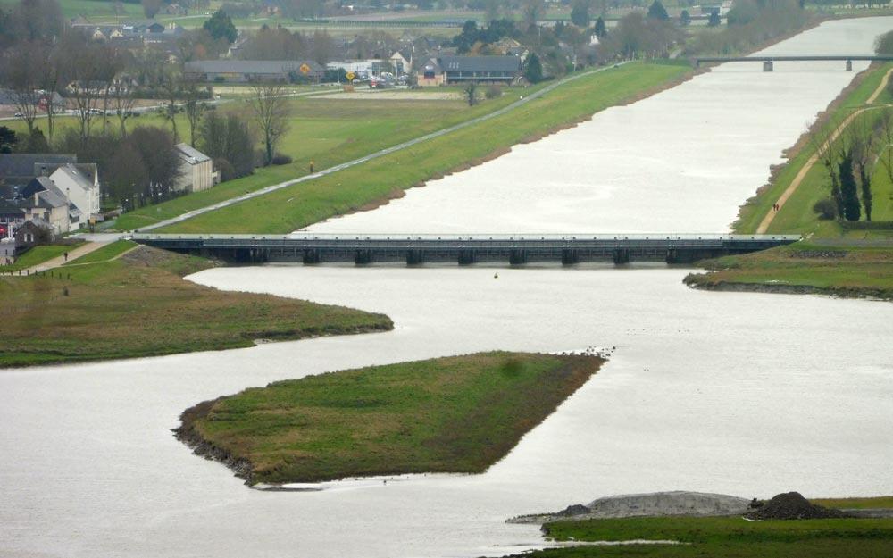 Le nouveau barrage sur le Couesnon